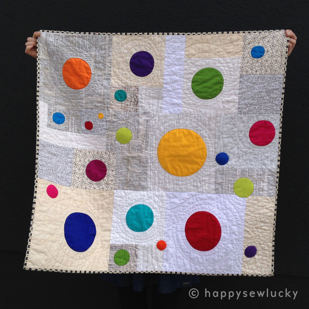 GOBSTOPPER QUILT: designed & made by Berene Campbell. Taught as a class on circle applique techniques.