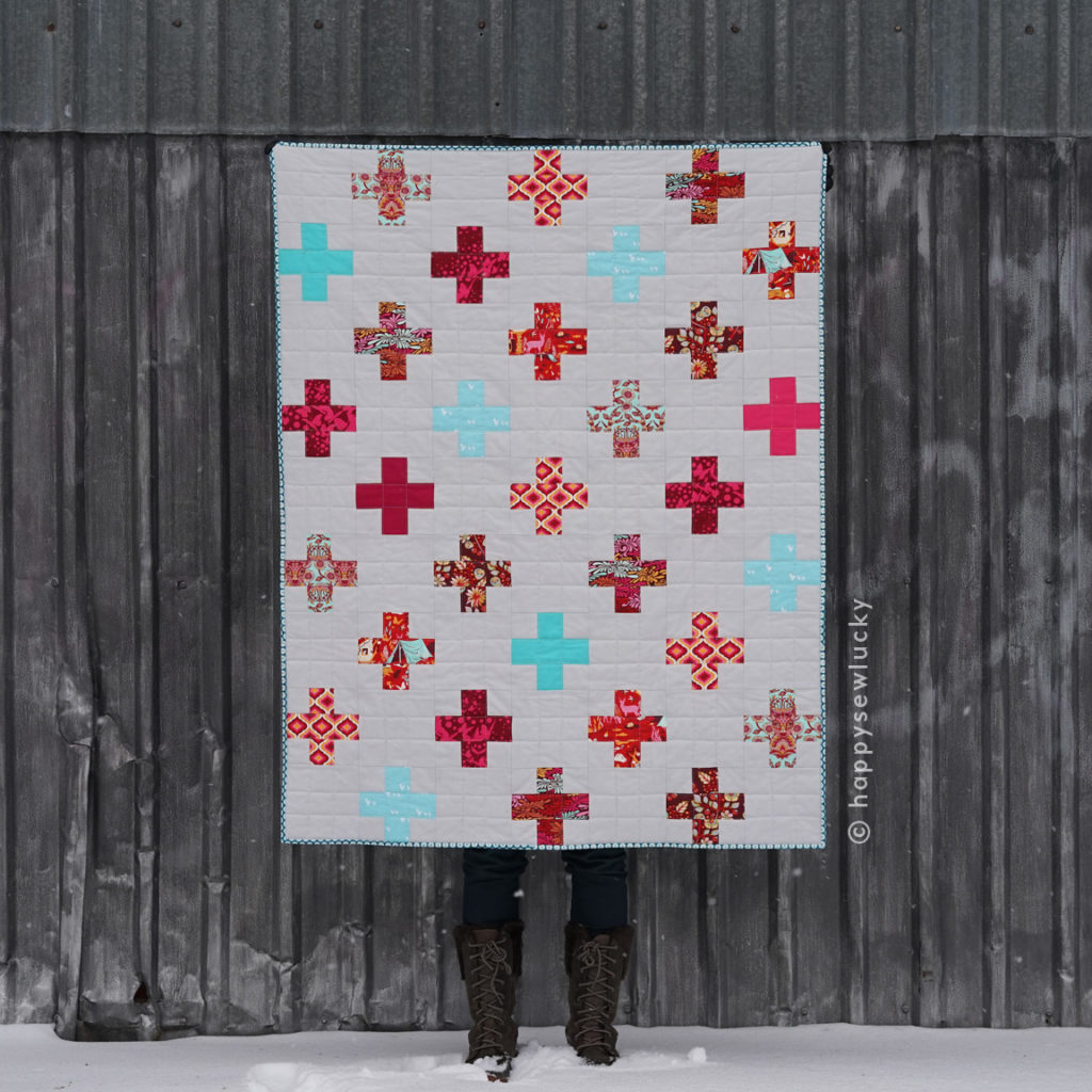 POSITIVITY QUILT: made by Berene Campbell. Taught as a beginner quilting class.