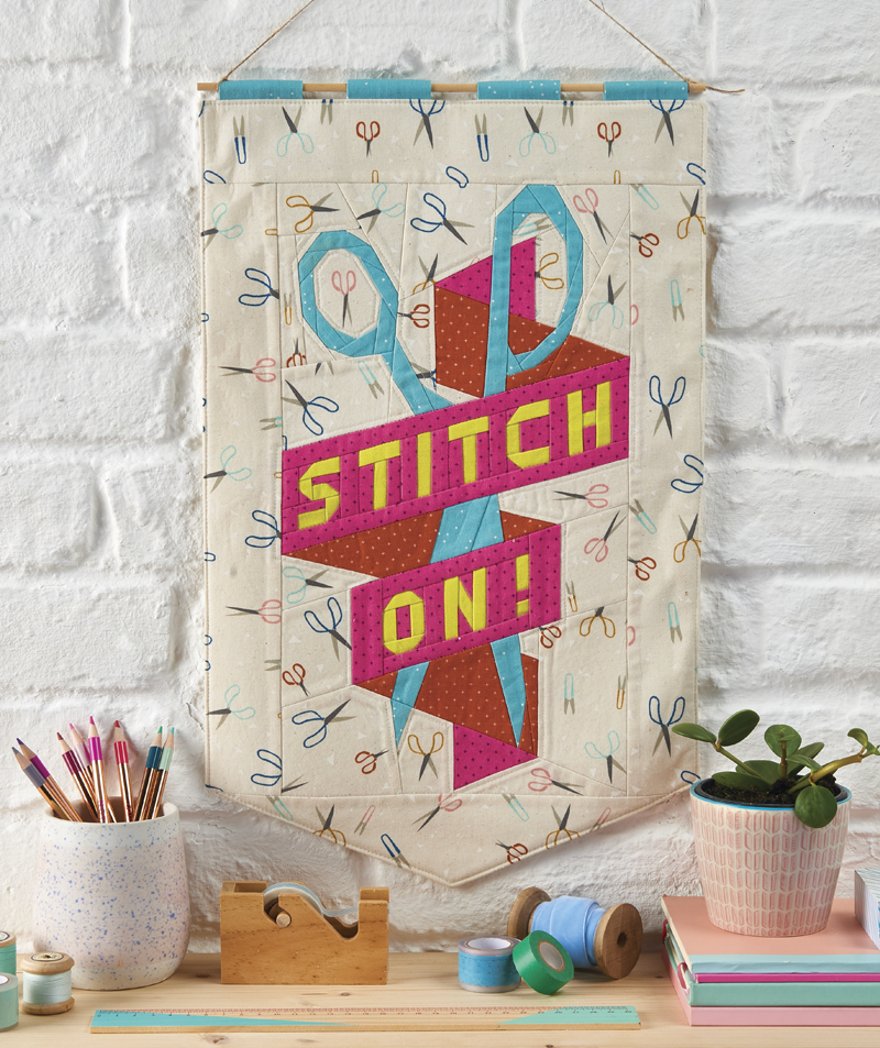 STITCH ON! banner designed for Love Patchwork magazine